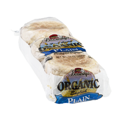 Barowsky's Organic English Muffins Plain - 6 CT
