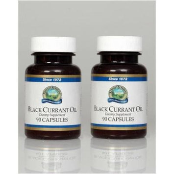 Nature's Sunshine Black Currant Oil Dietary Supplement 90 Softgel Capsules Each(pack of 2)