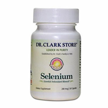 Dr. Clark Selenium Supplement, 200mcg, 50 capsules