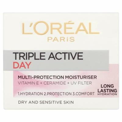 L'Oréal Paris Triple Active Day Moisturiser - Dry and Sensitive Skin