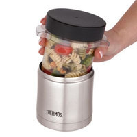 THERMOS VACUUM INSULATED 12 OZ MICROWAVE FOOD JAR SS/BLACK