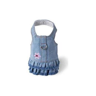 Doggles Dog Boutique Harness in Blue Jean Fringe