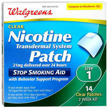 Walgreens Nicotine Patches Step 1