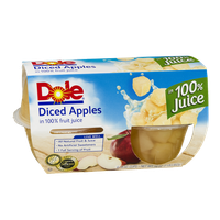 Dole Diced Apples in 100% Juice- 4 CT