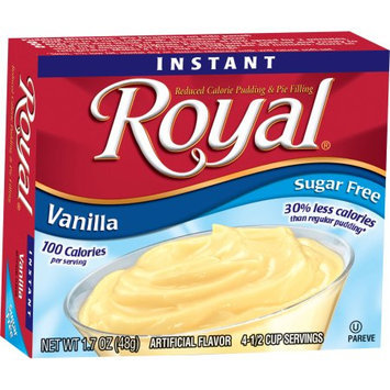 Jelsert Royal Instant Vanilla Reduced Calorie Pudding & Pie Filling, 1.7 oz, (Pack of 12)