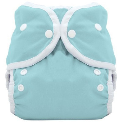 Thirsties Duo Wrap Snap Diaper Cover, Aqua, Size 1