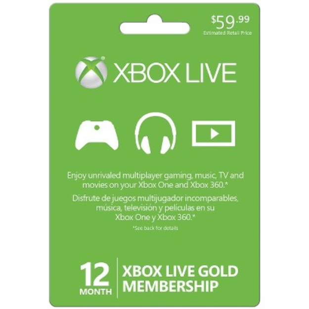Microsoft Xbox Live 12 Month Gold 2013 $59.99