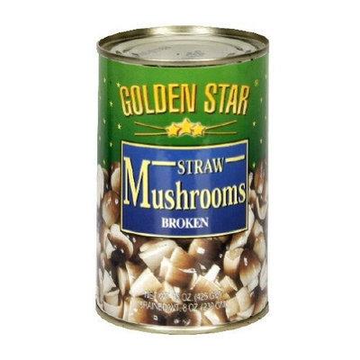 Golden Star Mushroom, Broken Straw, 15-Ounce (Pack of 12)