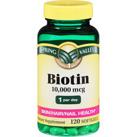 Spring Valley Biotin Softgels
