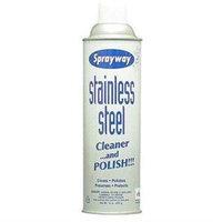 Sprayway 15 Oz. Aerosol Stainless Steel Polish and Cleaner