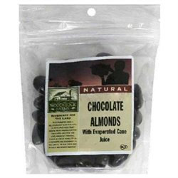 WOODSTOCK FARMS Dark Chocolate Almonds 3.5 OZ
