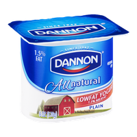 Dannon All Natural Plain Lowfat Yogurt