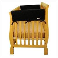 Trend Lab Cribwrap Wide Rail Cover - Short Black Fleece - 109059