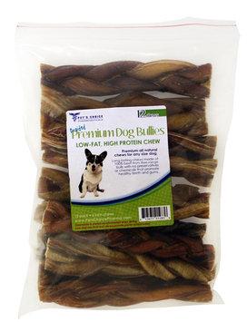 David Shaw Silverware Na Ltd Braided Bully Sticks for Dogs, 6