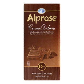 ALPROSE SWISS 61821 Alprose Cream Deluxe Chocolate Bar - 3.5 oz.