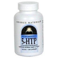 Source Naturals 5-HTP 100mg, Capsules, 120 ea