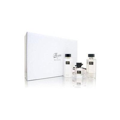 Flora by Gucci Gift Set - 2.5 oz EDT Spray + 3.4 oz Body Lotion + 3.4 Shower Gel