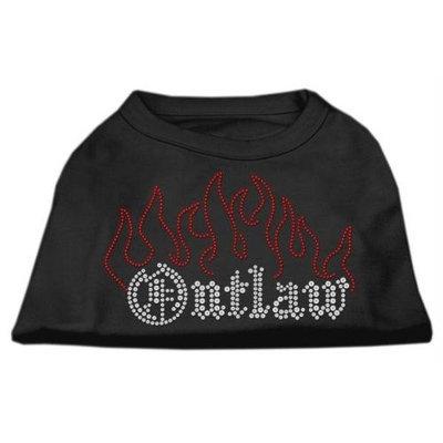 Mirage Pet Products 5252 XXLBK Outlaw Rhinestone Shirts Black XXL 18