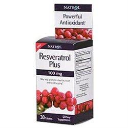 Natrol Resveratrol Plus 100mg Dietary Supplement Tablets