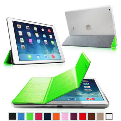 Fintie Ultra Slim Lightweight Case with Semi Transparent Hard Shell Cover for Apple iPad Air (5th Gen), Green/Frost