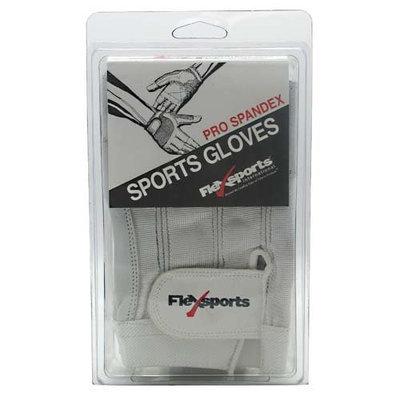 Flexsports International, Pro Spandex Sports Gloves White Medium M