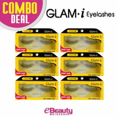 Glam i Remy Hair 100% Human Hair Eyelashes (Pack of 6)- Glam 109
