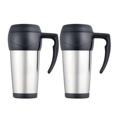 Thermos Set of 2  Stainless Steel 16-oz. Travel Mugs