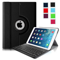 Fintie iPad Air Keyboard Case - Ultra Slim 360 Degree Rotating Stand Cover with Wireless Bluetooth Keyboard, Black
