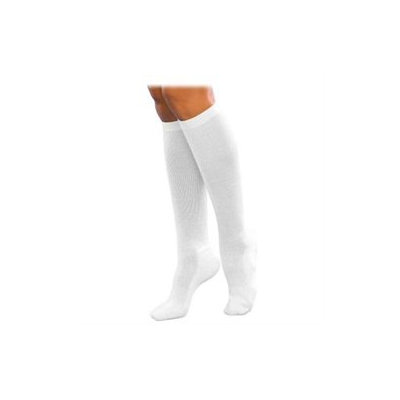 Sigvaris Women's Cushioned Cotton 15-20mmHg Closed Toe Knee High Sock Size: A (5-7), Color: White 00