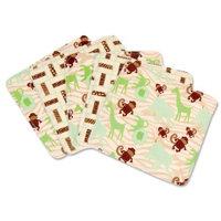 Trend Lab Jungle Jam Wash Cloth Set, Green, 5 Count