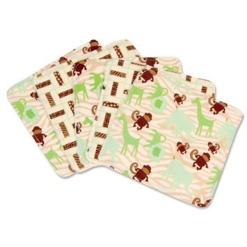 Trend Lab Jungle Jam Wash Cloth Set, Green, 5 Count