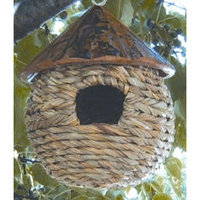 Tierra Derco International Tierra Garden N743 6-Inch Round Seagrass High Bird Hut, Brown (Discontinued by Manufacturer)