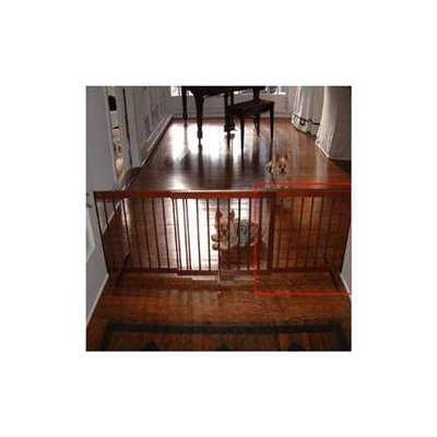 Cardinal Gates Step Over Gate Extension in Walnut