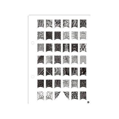 Nail Art Stamping XL- D Image Plate French & Full Nails