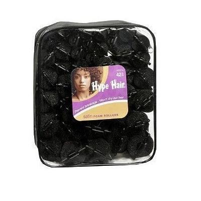 Hype Hair Satin Foam Rollers, 42 Pcs.