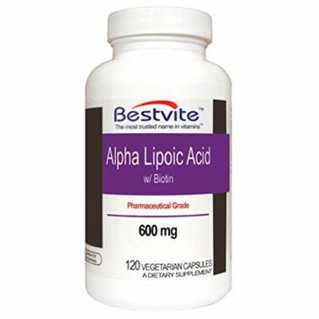 Alpha Lipoic Acid 600mg with Biotin (120 Vegetarian Capsules)