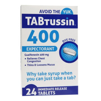 TABtussin 400 Expectorant Immediate Release Tablets, 24 ea