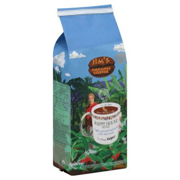 Jim's Organic Coffee Happy House Blend Whole Bean 12 oz