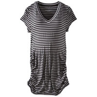 Liz Lange For Target Maternity Short-Sleeve V-Neck Tunic Top Gray/Black XL-Liz Lange for