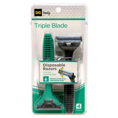 DG Body Triple-Blade Disposable Razors - 4 ct