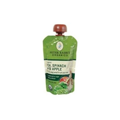Bangalla Peter Rabbit Organics - Veg and Fruit Puree 100 Pea Spinach and Apple - 4.4 oz.