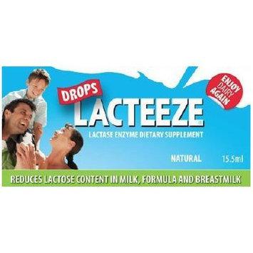 Lactase Enzyme Lacteeze Drops 15.5 ml Liquid by Gelda Scientific