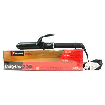 Babyliss PRO Professional Ceramic Curling Iron - Model # BABC150SC - Black by BaBylissPRO for Unisex - 1 1/2 Inch Curling Iron