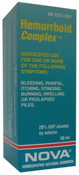 Nova Homeopathic Hemorrhoid Complex 1.7 OZ