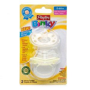 Playtex Binky 1 Piece Silicone Newborn Pacifier