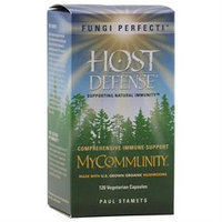 Fungi Perfecti Host Defense MyCommunity Comprehensive Immune Support - 120 Vegetarian Capsules