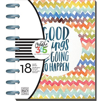 me & my BIG ideas Create 365 The Happy Planner, Good Things Are Going To Happen, 18 Month Planner, July 2015 - December 2016 [Good Things Are Going To Happen, July 2015 - December 2016]