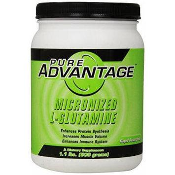 Pure Advantage Micronized L-Glutamine Dietary Supplement, 1.1 Pound