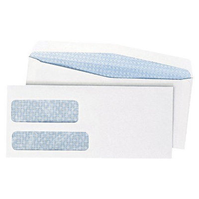 Quality Park Gummed Flap Double Window Security Tinted Envelope -