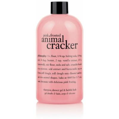 Philosophy Pink Frosted Animal Cracker (Shampoo, Shower Gel and Bubble Bath)16 fl. oz.